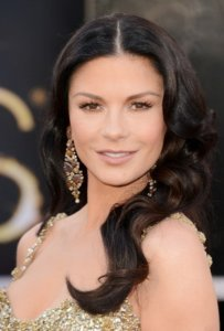 Actress Catherine Zeta-Jones Oscars hairstyle
