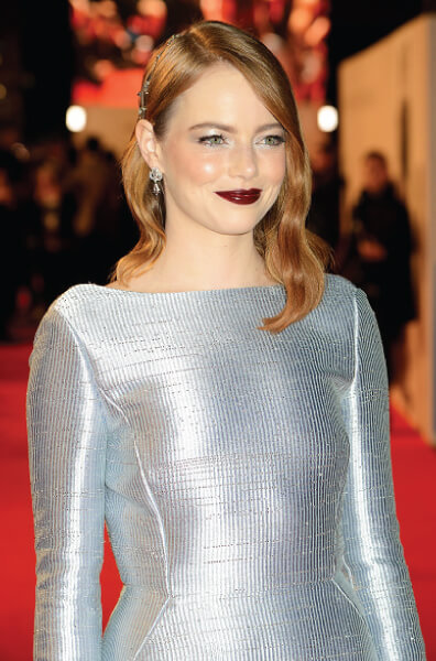 Emma Stone Hair for London Premiere