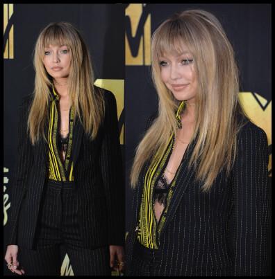 Gigi Hadid's Blonde Hair Cut With Bangs