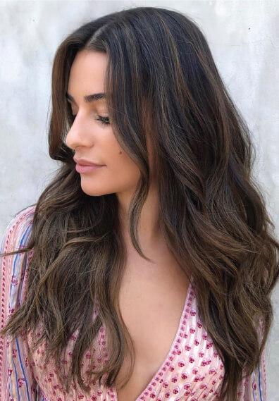 Lea Michelle brunette hair color