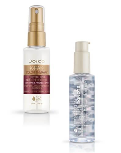 Blonde Life Oil and K-PAK Luster Lock Spray bottles