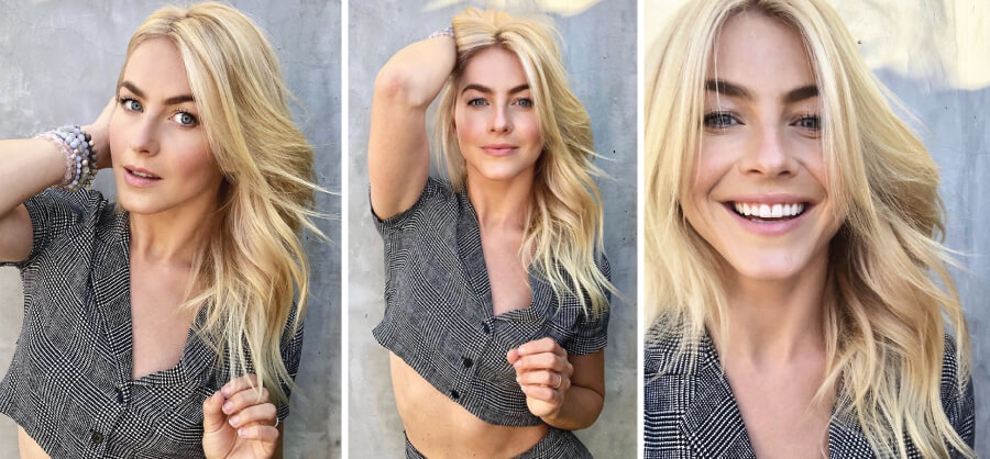 Julianne Hough blonde hair color formula after