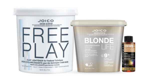 Blonde Life and Free Play lightener with Lumishine color