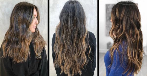 Brunette hair color after