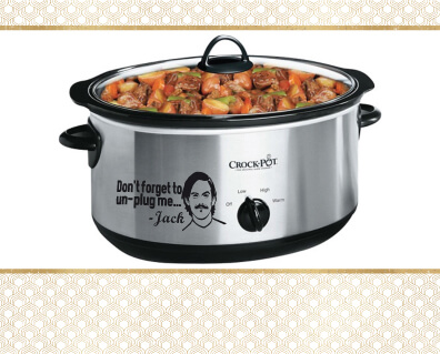 Crock Pot with Food Cooking