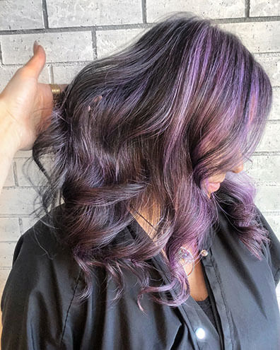 Purple hair color after