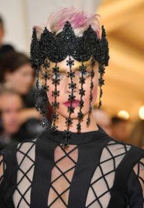 Cara Delevigne Short Pink Hair at Met Ball