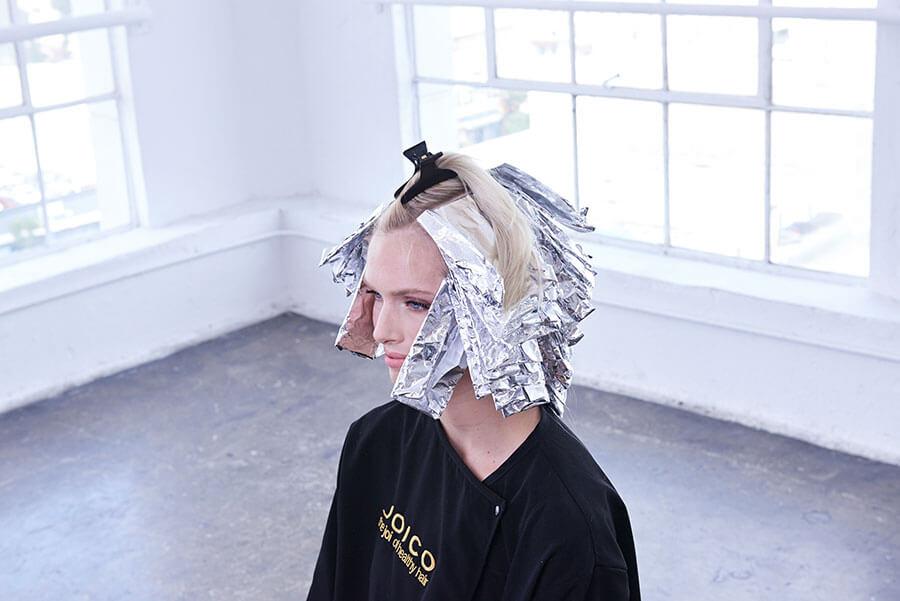 Platinum Pearl blonde hair color technique step 6