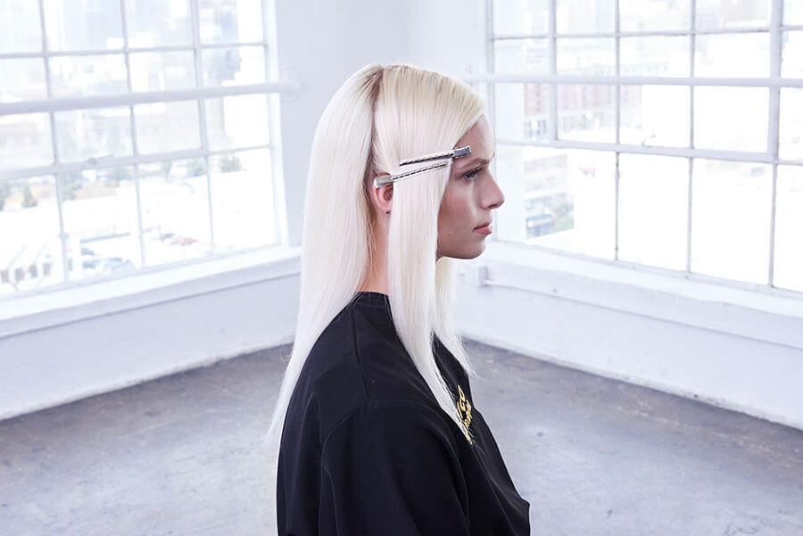 Platinum Pearl blonde hair color technique step 9