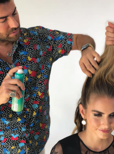 Body Shake Being Sprayed In Hair