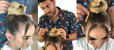 Richard Mannah Styling Models Bun