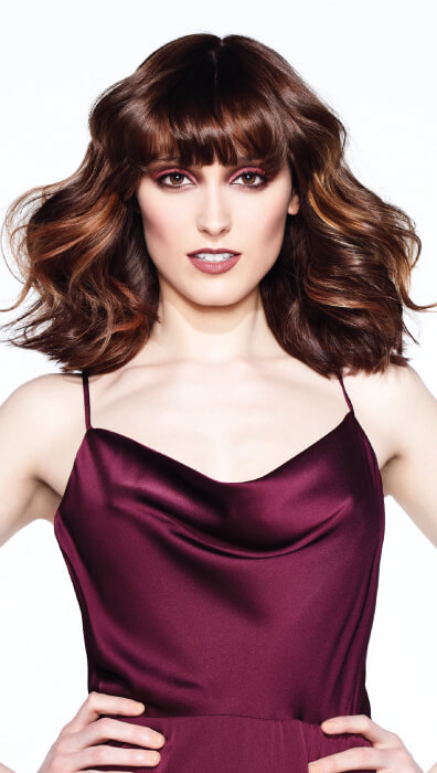 Edgy brunette cut and color