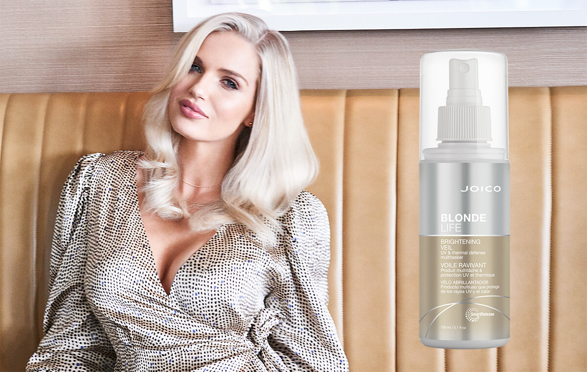 Blonde Life Veil product and model