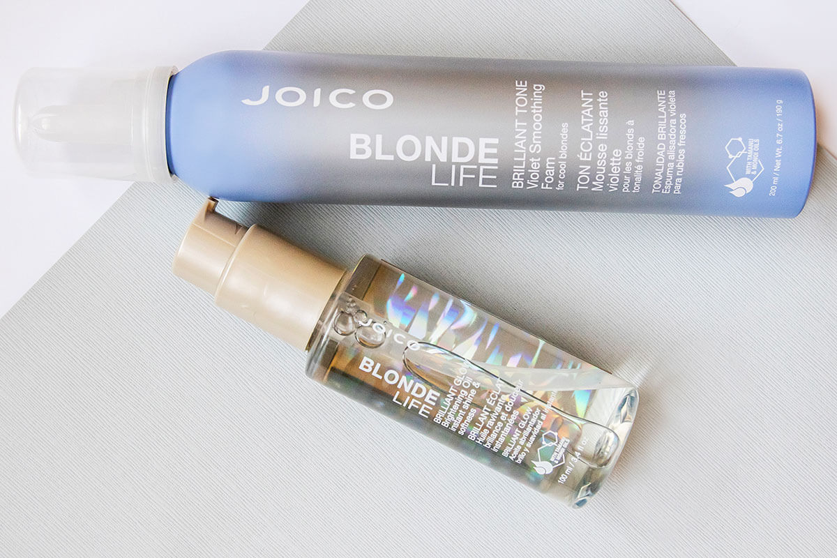 Blonde Life oil and foam bottles