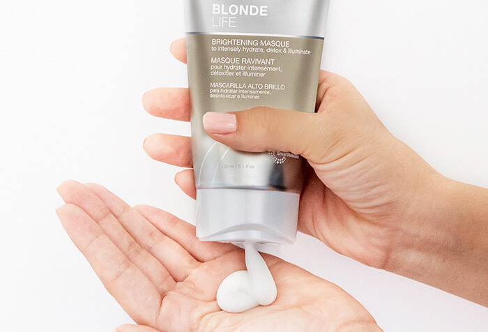 Blonde Life Masque coming out of bottle