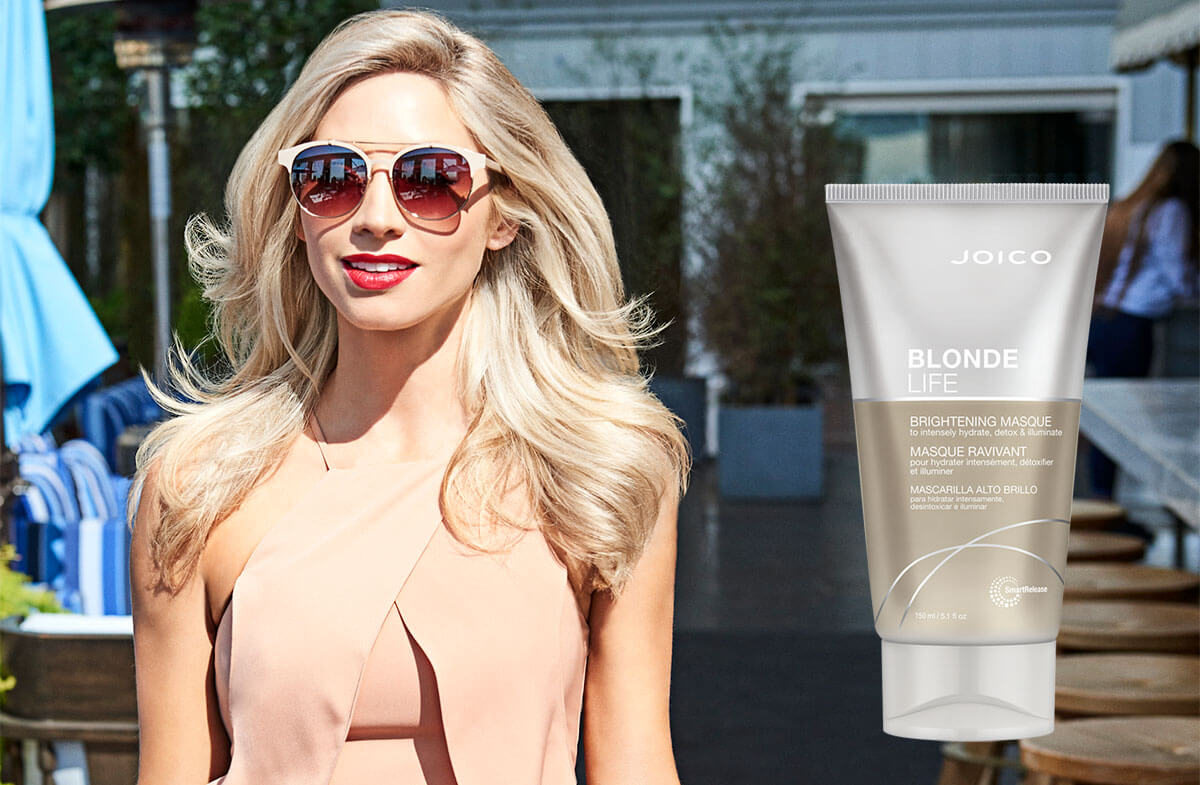 Blonde Life masque Product and model