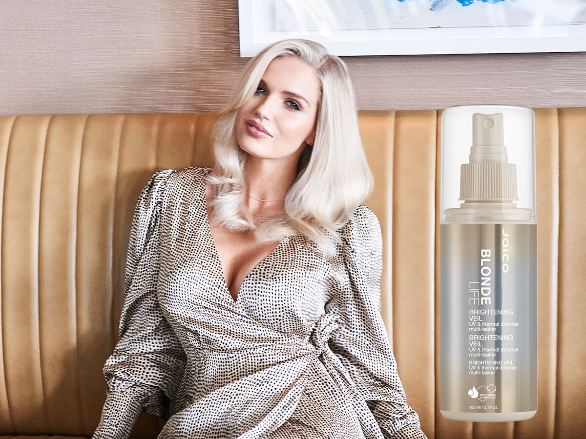 Blonde Life Veil model and product