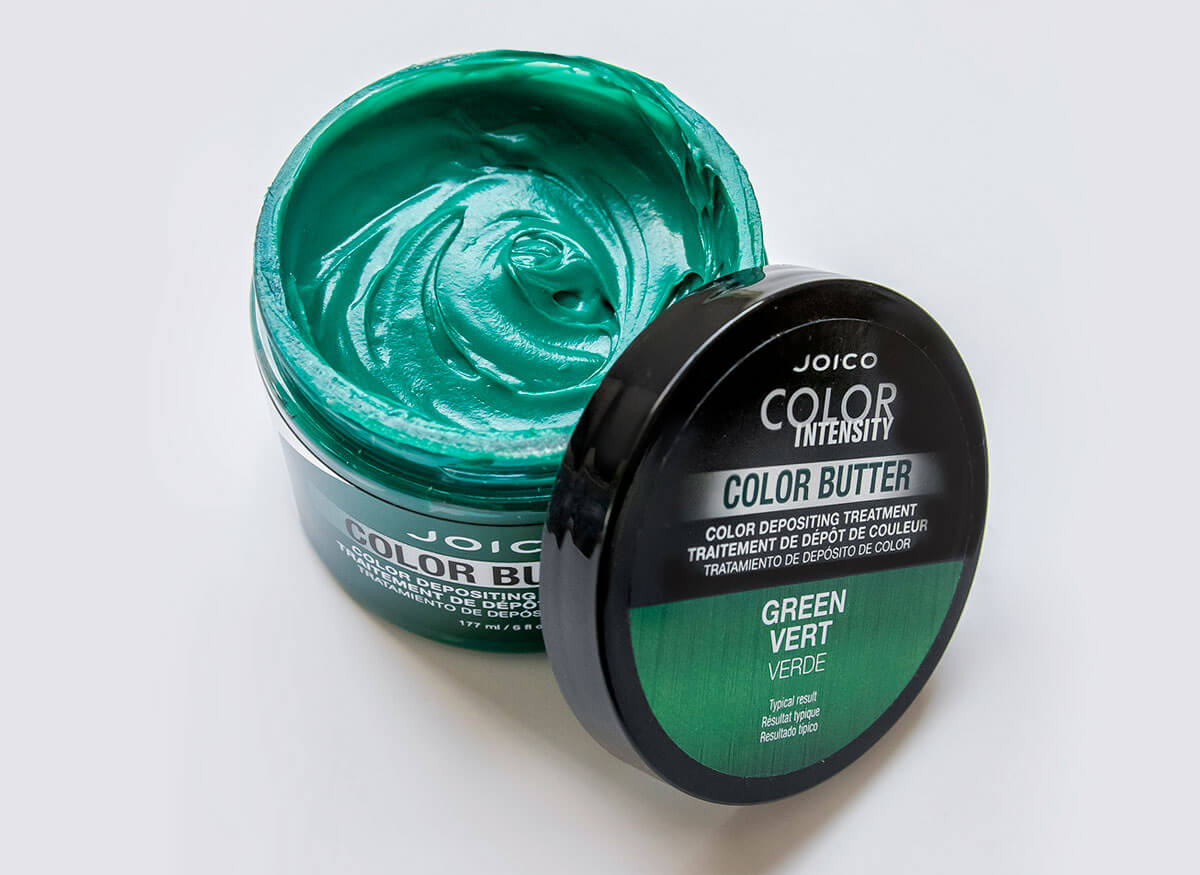 Color Butter Green jar open