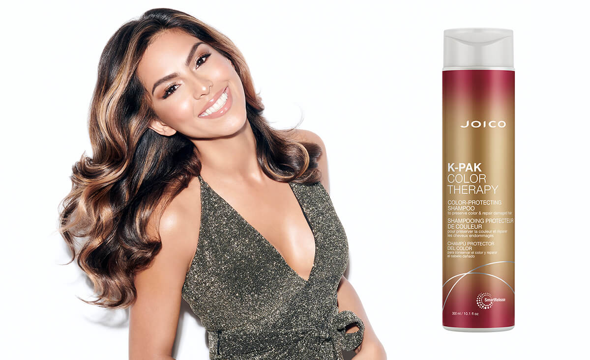 K-PAK Color Therapy Shampoo Bottles