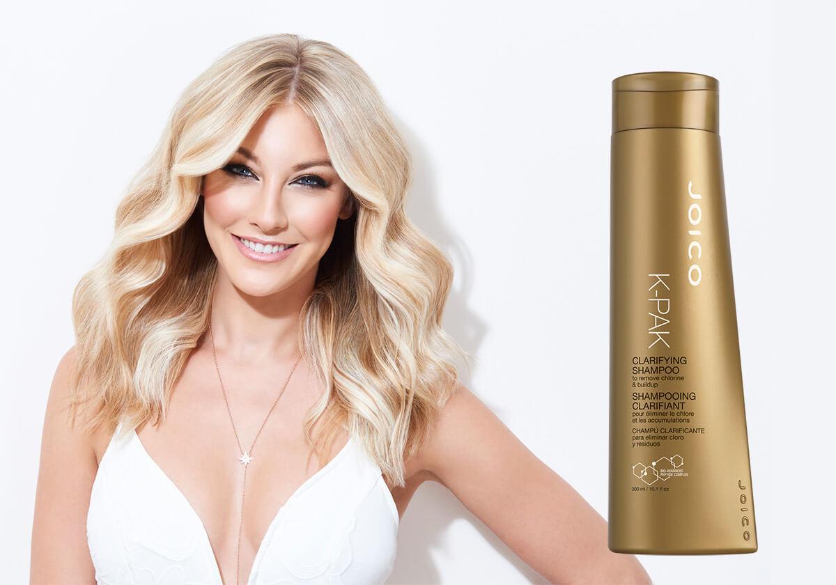 K-PAK Clarifying Shampoo Model and Product
