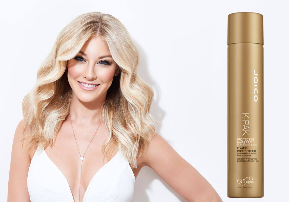 K-PAK hairspray model and product