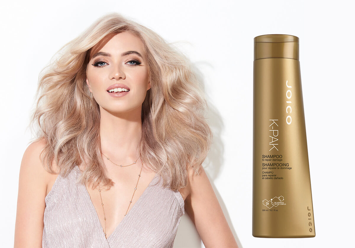 K-PAK Shampoo Model and Product
