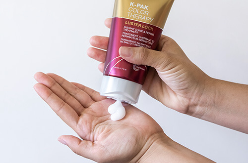 K-PAK Color Therapy Masque in hand
