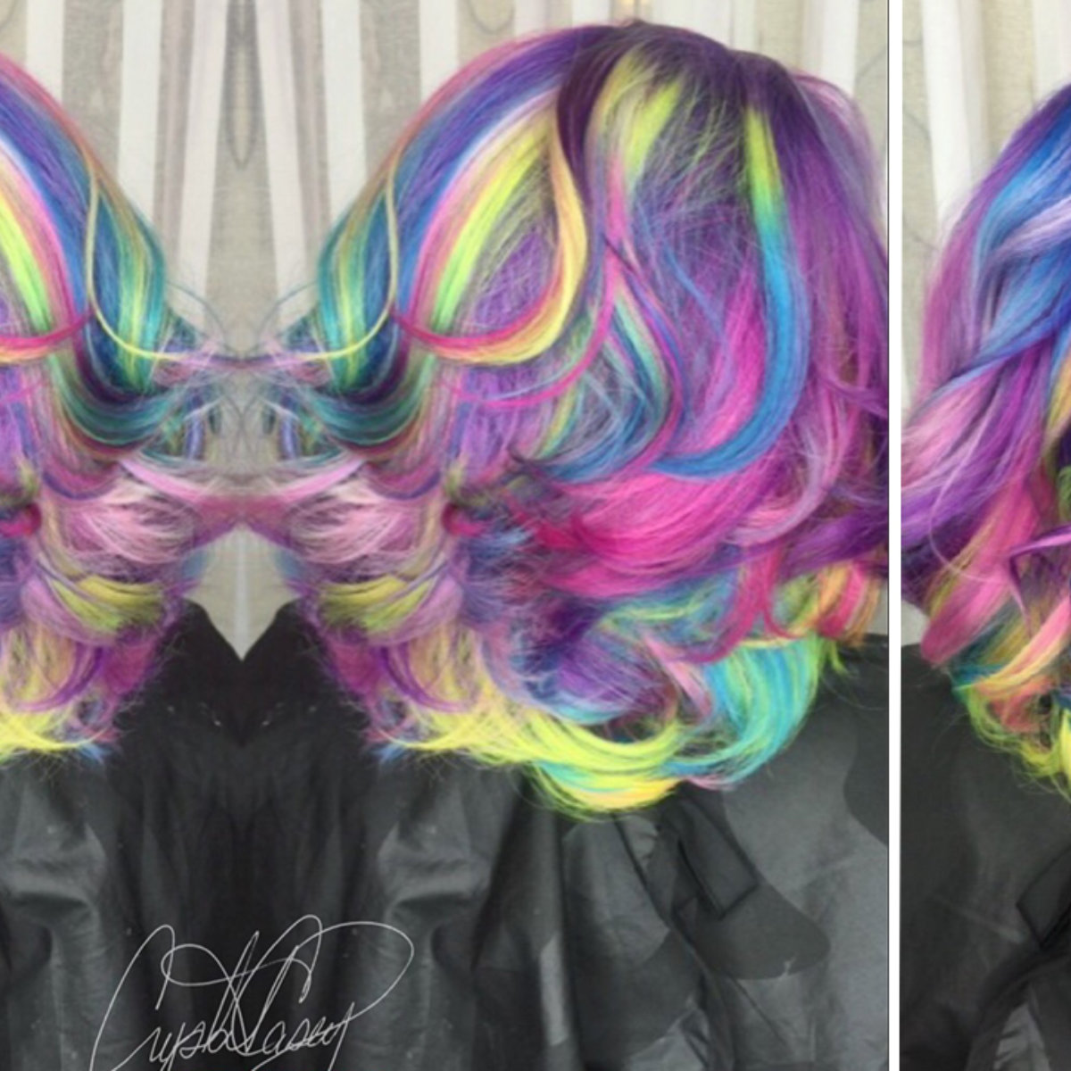Color intensity candy crush hair color technique model after