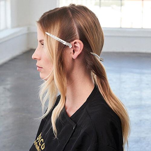 Caramel Contour hair color technique step 2