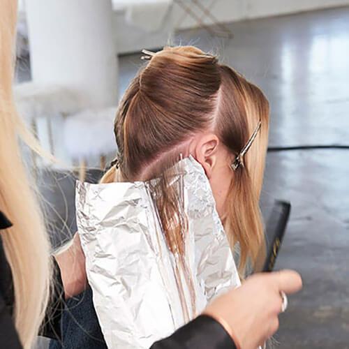 Caramel Contour hair color technique step 3