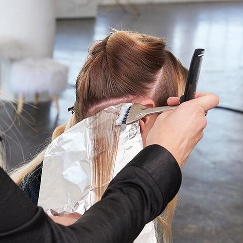 Caramel Contour hair color technique step 4