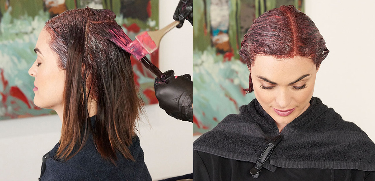 Chambord Night hair color technique step 2