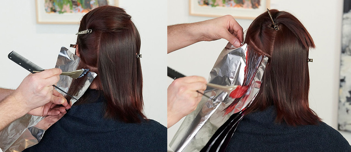Chambord Night hair color technique step 3