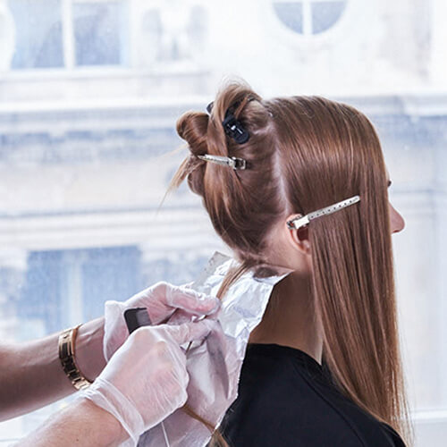 Champagne Ice Blonde hair color technique step 3