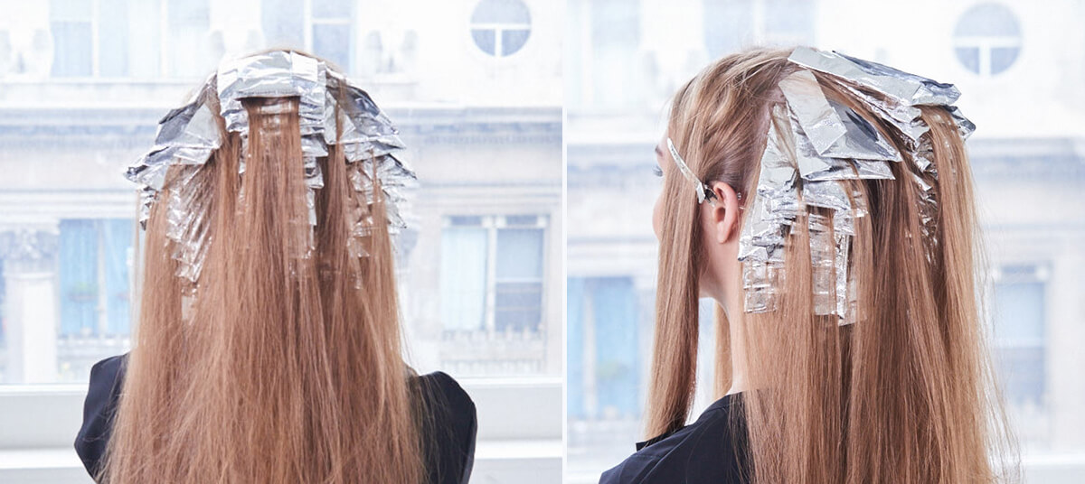 Champagne Ice Blonde hair color technique step 6