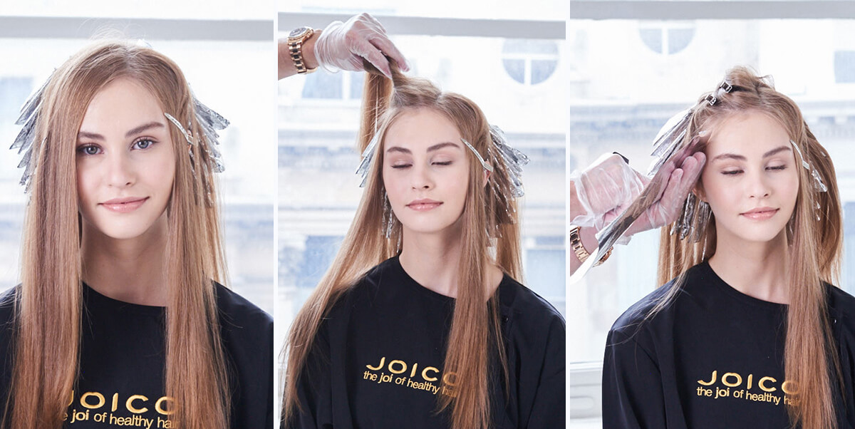 Champagne Ice Blonde hair color technique step 7
