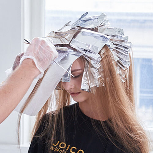 Champagne Ice Blonde hair color technique step 9