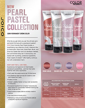 Color Intensity Pearl Pastel fact sheet pdf cover