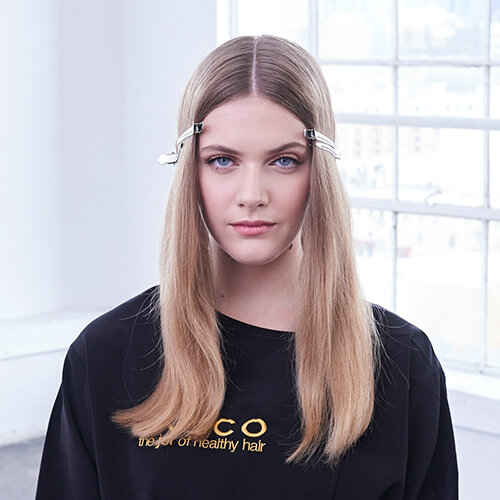 Cream and sugar hair color technique step 1