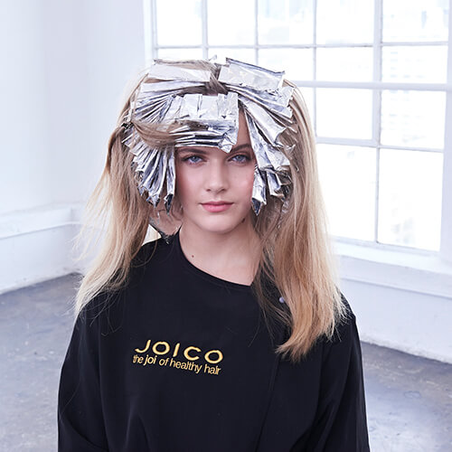 Cream and sugar hair color technique step 13