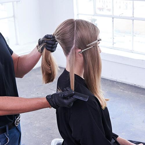 Cream and sugar hair color technique step 4