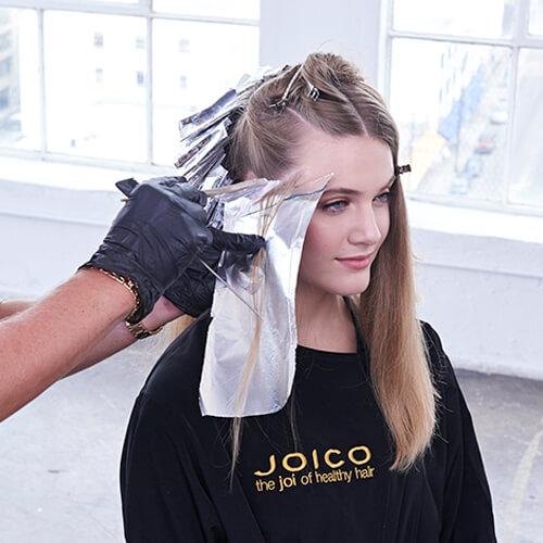 Cream and sugar hair color technique step 8
