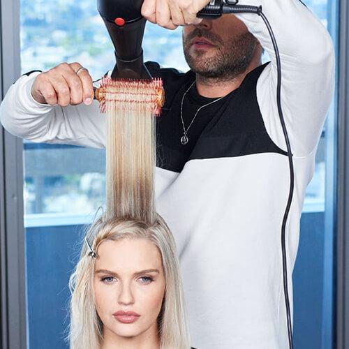 Cream blonde hair color technique step 26