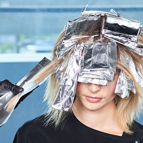 Flash blonde hair color technique step 10