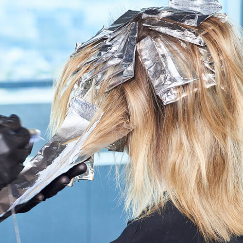 Flash blonde hair color technique step 11