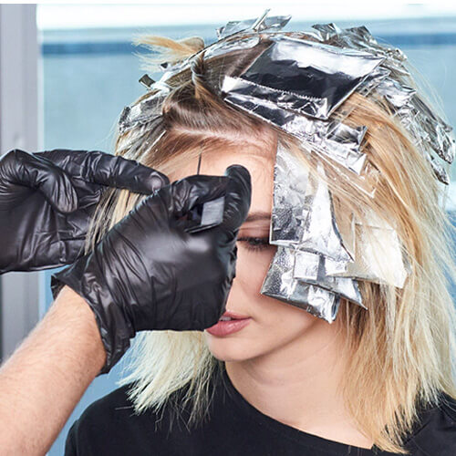 Flash blonde hair color technique step 8