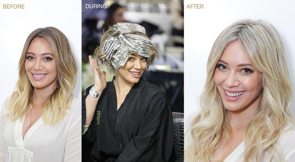 Hillary Duff blonde hair color