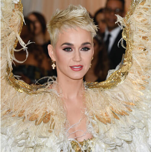 katy perry blonde hair color for met ball