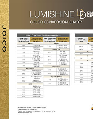lumishine dd creme conversion chart pdf cover