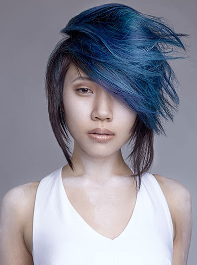 Marc Galati cut and color hairstyle on model